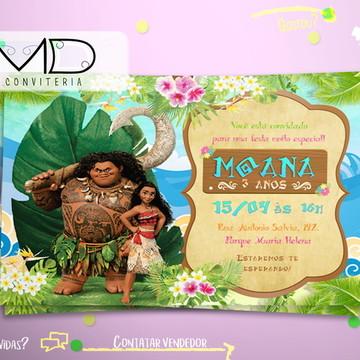 Convite Moana Sem Envelope