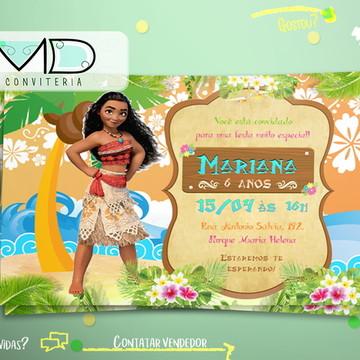 Convites Festa Moana
