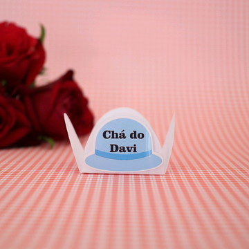 Forminha para doce com texto - moda - chapéu cartola