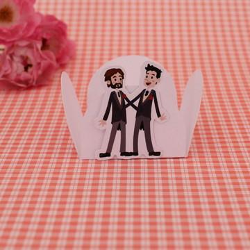 Forminha para doce - casamento - noivado - gay