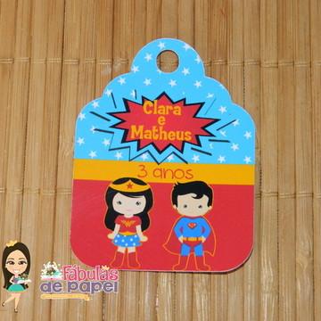 Tag Super Man e Mulher Maravilha
