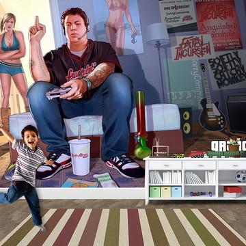 Papel de Parede para Quarto Games 0006