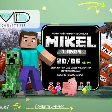 Convite Personalizados do Minecraft