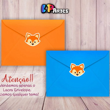 Adesivo 3x3 - Lacra Envelope - Raposinha