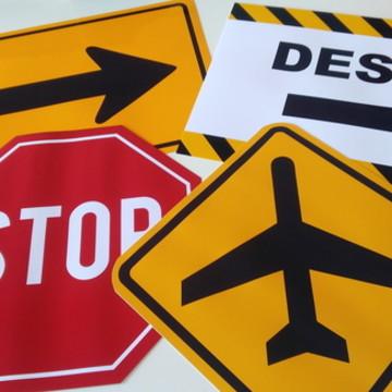 Placas Decorativas - Aeroporto