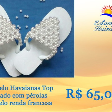 Chinelo Havaianas Top Renda Francesa