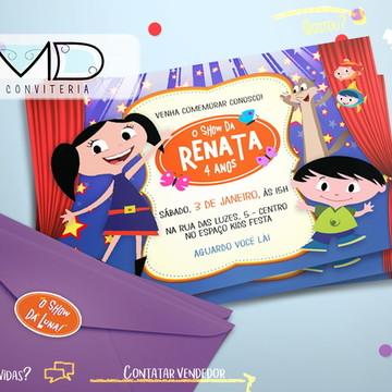 Convites Personalizados Show da Luna