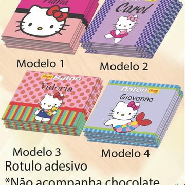 Rotulo de Baton-Hello kitty
