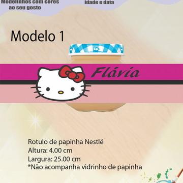 Rótulo Vidro Papinha-Hello kitty