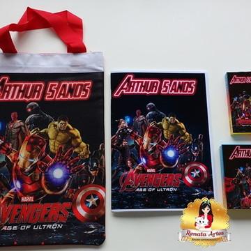Vingadores - Kit passatempo na sacola personalizado