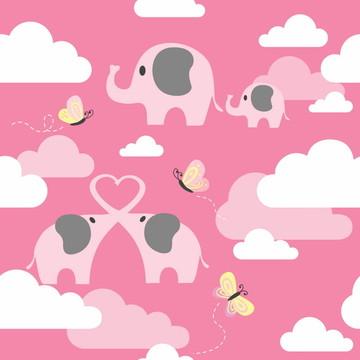 Papel de Parede Elefante nas Nuvens
