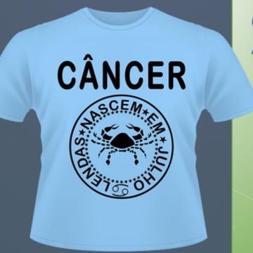 Camiseta Signo de Câncer (Junho/Julho) #172