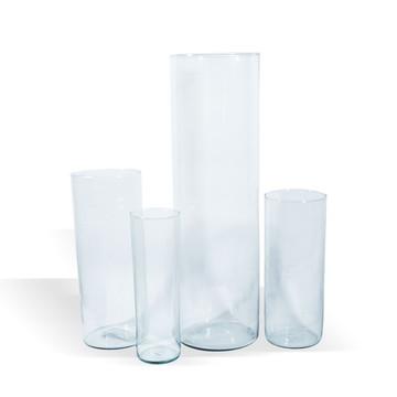 Kit 4 vasos tubos de vidro para decoração festas casamentos