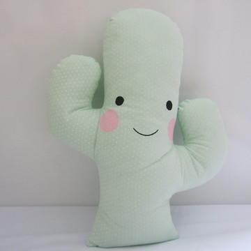 Almofada Cacto Verde Clarinho Poá
