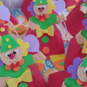 Centro de Mesa Circo Palhaço com balão fofo