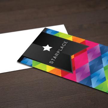 500 Cartões de Visita - 4x0 - Fosco + Verniz Local Frente
