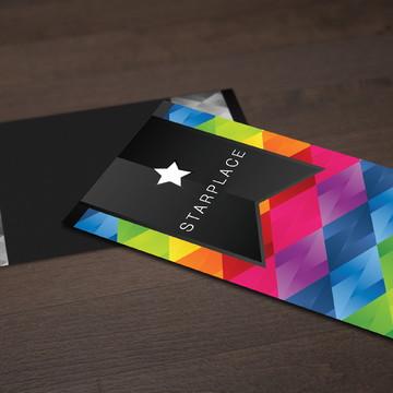 500 Cartões de Visita - 4x1 - Fosco + Verniz Local Frente