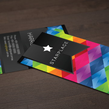 500 Cartões de Visita - 4x4 - Fosco + Verniz Local Frente