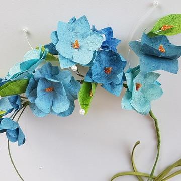 Headband para daminha acessório tiara flores noiva casamento