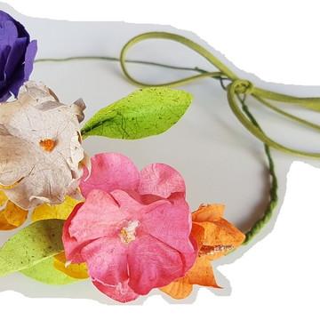 Coroa de flores - handband - tiara personalizada casamento