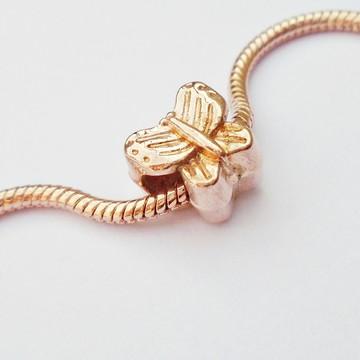 Berloque BORBOLETA Banhada ouro Rosê