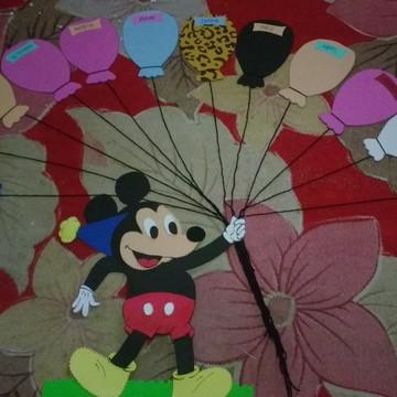 Cartaz aniversariantes Mickey & Minnie
