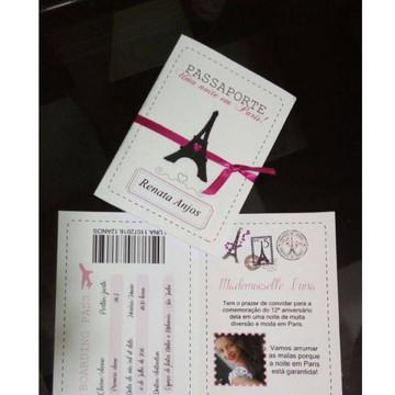 Arquivo Silhouette Convite Passaporte Paris