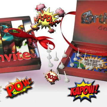 Convite Personalizado Super Heróis