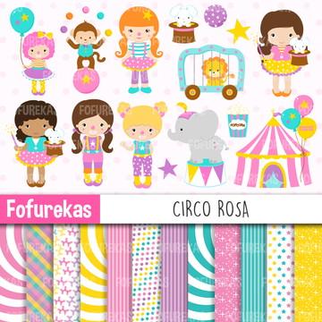 Kit Digital - Circo Rosa