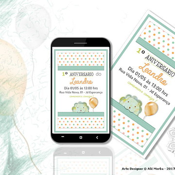 Convite Digital - Aniversário Infantil
