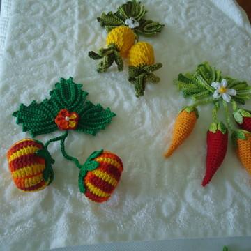 cachinhos de frutas e legumes