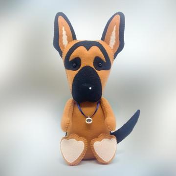 Cachorro Pastor Suiço Alemão ou Branco em Feltro
