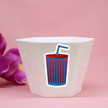 Vasinho/cachepô - cinema - Hollywood - refrigerante