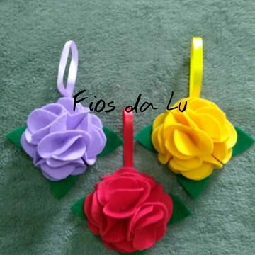 Lembrancinha Chaveiro flor feltro dia das mães