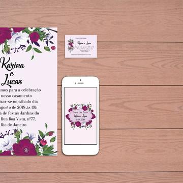 Identidade Visual Casamento Flores (Digital) 3 Artes