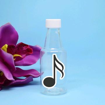 Garrafinha de plástico - notas musicais
