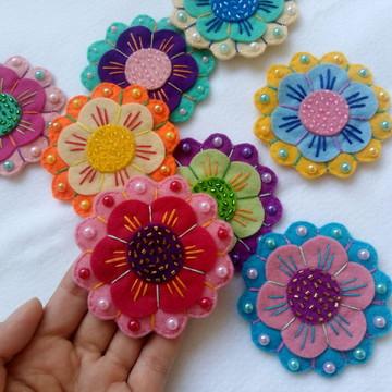 Flor de feltro estilo mandala