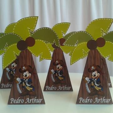 Caixa Coqueiro Mickey Piratas