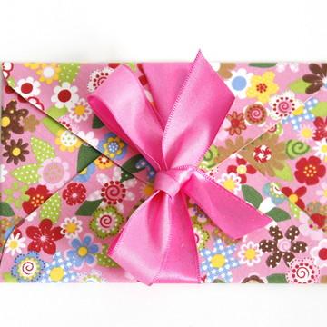 Convite envelope de tecido