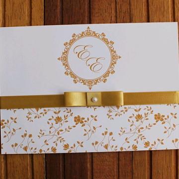 Convite Casamento dourado delicado Convite 15 anos bodas
