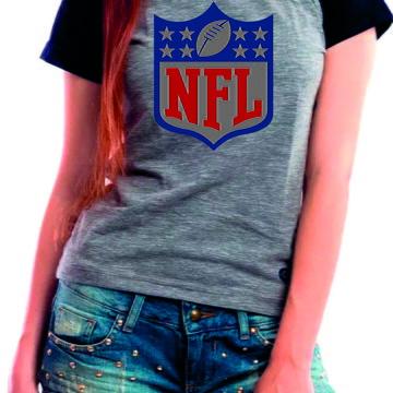 0a19369af4 Camiseta Baby Look NFL Futebol Americano