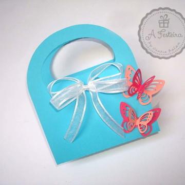 Kit Manicure Azul Borboletas