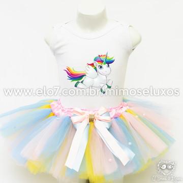 Kit de roupa Unicórnio - 7 à 9 anos