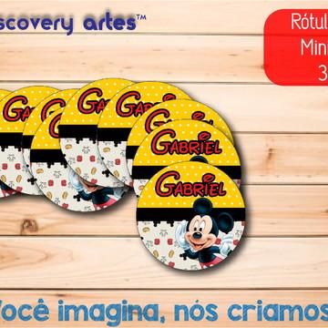 Rótulo Adesivo Mini Baleiro Mickey