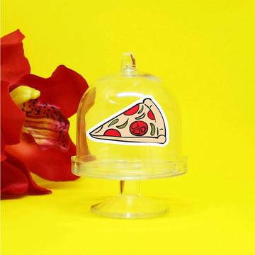 Mini-cúpula com aplique - italiana pizza