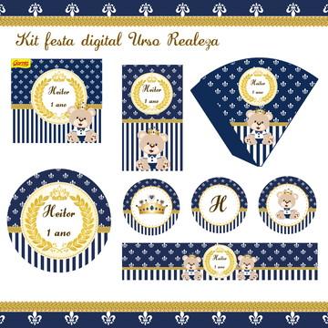Kit festa digital Urso Realeza