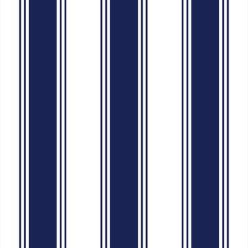 Papel de Parede Listrado Azul Marinho e Branco -884