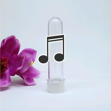 Tubete com aplique - notas musicais