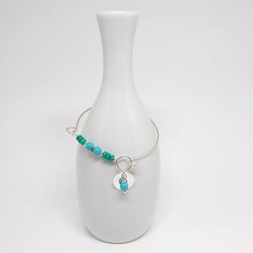 Bracelete de Prata - Turquesa