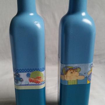 Decoracao garrafa infantil menino